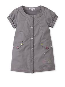 Alphabet Baby Short Sleeve Star Dress (Grey)