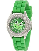 Frenzy Kids' FR377 Green Rubber Band Frog Watch