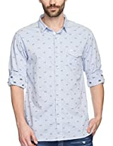 SPYKAR Men Cotton Lt.Blue Casual Shirt (Medium)