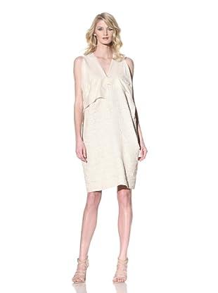MARNI Women's V-Neck Jacquard Dress (Natural)