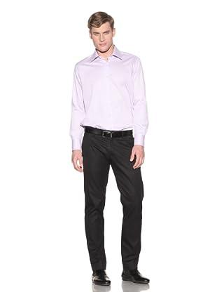 Valentino Men's Dress Shirt (Light Purple/White Stripe)
