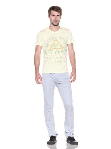 Z Brand Men's Short Sleeve Western States Tee (Misted Yellow)