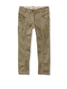 KANZ Girl's Contrast Stitch Pants (Olive)