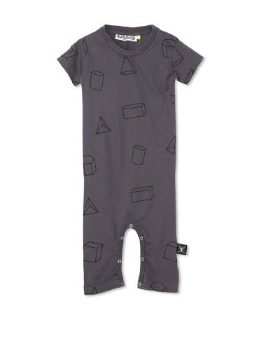 NUNUNU Baby Geometry Play Suit (Dark Grey)