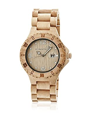 Earth Reloj con movimiento cuarzo japonés Unisex Raywood Ethew1701 Beige 47 mm