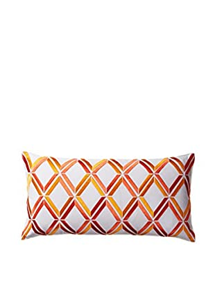 Trina Turk Peacock Punch Decorative Pillow, Orange