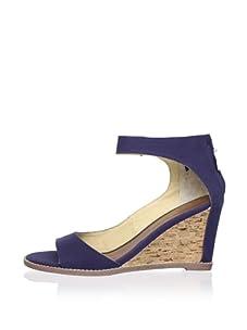 Matt Bernson Women's Charles Ankle Strap Wedge (Navy)