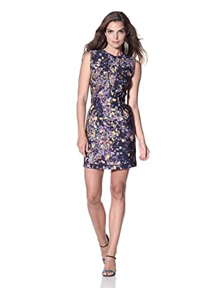 Cynthia Rowley Women's Bonded Printed Sleeveless Dress (Navy Confetti)