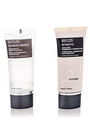 Beauty Spa Kit Mymetic Pelle Chiara Primer Base Uniformante E 20 Fondotinta Cromatico Anti Macchia