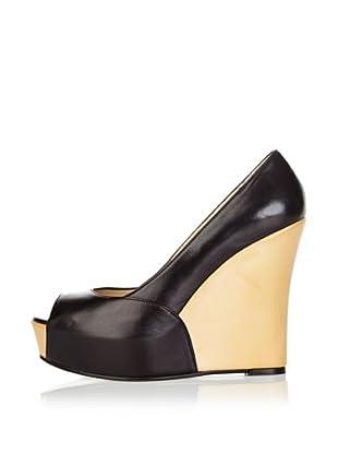 Gino Rossi Zapatos Peep Toe Cuña (Negro)