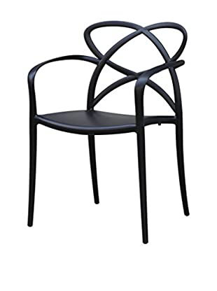 Manhattan Living Script Dining Chair, Black
