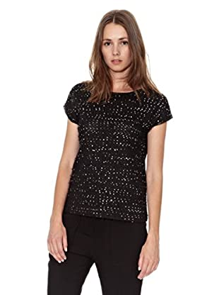 Mango Camiseta Ray (Negro)