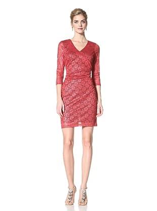 Marc New York Women's Metallic Lace Dress (Poinsettia)