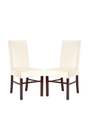 Safavieh Set of 2 Classic Side Chairs, Cream