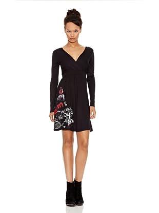 Desigual Vestido Candela (Negro Estampado)