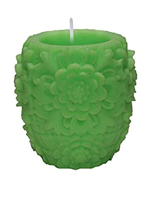 Volcanica Dendritic Vase Candle, Lime
