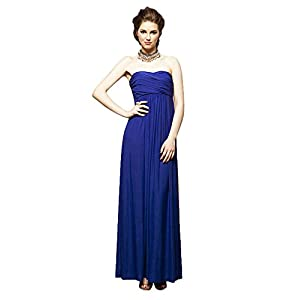 Classic Royal Blue Colored Sleeveless Designer Wear Dress in Tube Pattern Style by Buylane