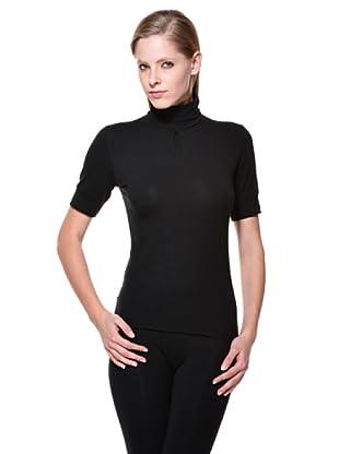 Cotonella Camiseta Cuello Alto (negro)