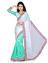 Sky Blue Stylish Fancy Saree