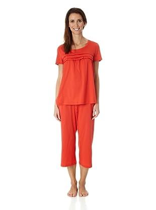 Hanro Pyjama 1/2 Arm Stella (Rot)