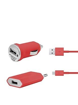 Unotec Cargador 3 en 1 Rojo