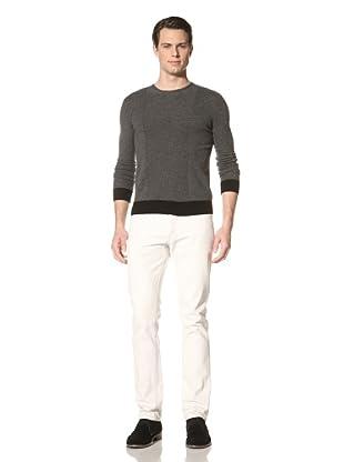 Jacob Holston Men's Kuper Black Ribbing Sweater (Charcoal)