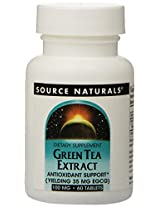 Source Naturals Green Tea Extract 100mg, 60 Tablets