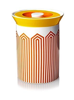Happy Chic by Jonathan Adler Lola Medium Canister, Orange/White