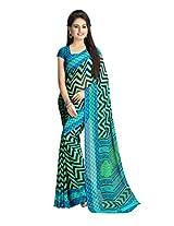 vaamsi printed saree (RC3151_Blue_6.3 m length)