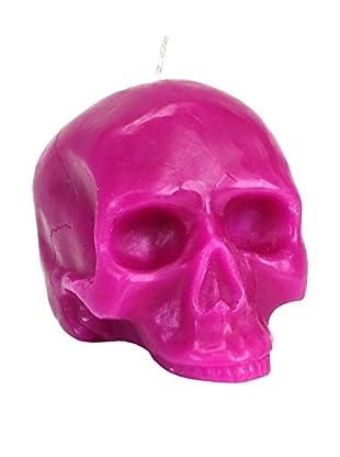 D.L. & Co. Medium Pink Skull Candle