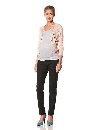 Lilac Maternity Skinny Jean (Black Denim)