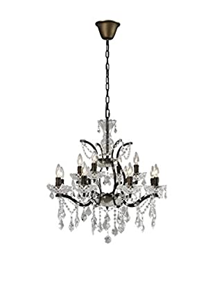 CDI Furniture Small Crystal Chandelier, Rust