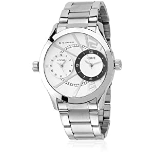 Giordano Metal Multi dial White- P6867 Silver / White Analog Watch