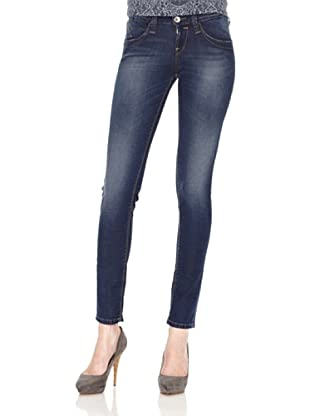 Fornarina Pantalón Blanca Up Denim Stretch (Azul Oscuro)