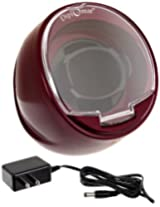 Diplomat Single Burgundy Watch Winder with Built In IC Timer