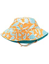 Flap Happy Baby Boys' Polyester UPF 50+ Fun In The Sun Hat, Tangerine Tide, Small