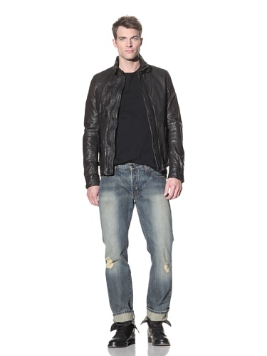 4 Stroke Jeans Men's Bowery Trash Relaxed Fit Jeans (Indigo Rips)
