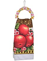 Beautiful Multipurpose Towel Hangingl Holder with Cotton Towel Must for Home Kitchen use (Design May Vary)