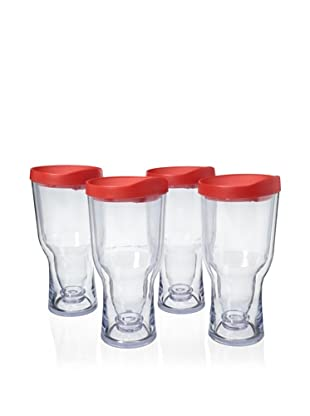 AdNArt Set of 4 Brew to Go (Red)