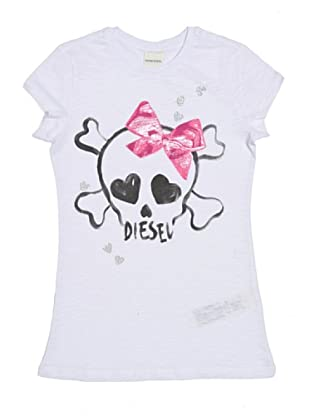 Diesel Kid T-Shirt Tam Flash (Weiß)