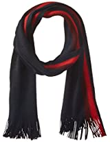 Tommy Hilfiger Men's Textured Border Stripe Scarf