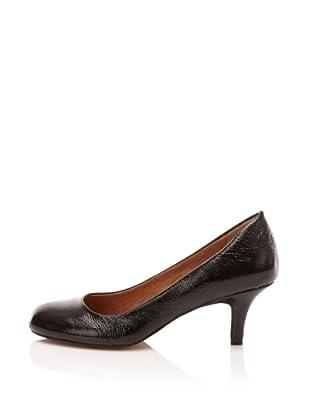 Corso Como Women's Littleton Mid-Heel Pump (Black Crinkled Patent)