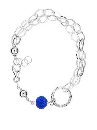 My Silver Pulsera Royal Circonita Azul