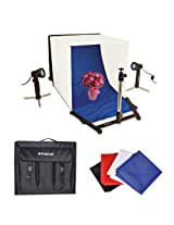 Polaroid Table Top Portable Photo Studio Light Tent Kit, Includes 1 Tent, 2 Lights, 1 Tripod Stand, 1 Carrying Caes, 4 Backdrops (Black, Blue, White, Red) For The Olympus Evolt PEN E-P3, PEN E-P2, E-PL1, E-PL2, PEN E-PL3, E-PL5, E-PM1, E-PM2, GX1, OM-D E-M5, E-M1, E-M10, E-P5, E-30, E-300, E-330, E-410, E-420, E-450, E-500, E-510, E-520, E-600, E-620, E-1, E-3, E-5 Digital SLR Cameras