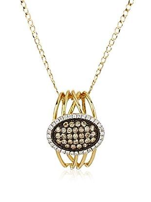 GOLD & DIAMONDS Set catenina e pendente oro 18 kt