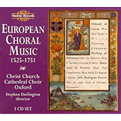 【クリックで詳細表示】European Choral Music: 1525-1751 [Import]