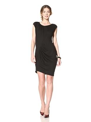 Thakoon Women's Sleeveless Sweater Dress with Pleating (Black)