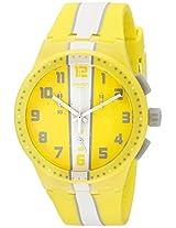 Swatch Men's SUSJ100 Chronoplastic-Amorgos Analog Display Quartz Yellow Watch