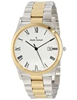 Claude Bernard Men's 70163 357J BR Classic Gents Gold PVD and Steel White Dial Date Watch