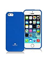 iPhone SE Case, [Low Profile] for Apple iPhone 5SE, [Pearl Glitter] MERCURY® Jelly Case TPU Case [Drop Protection] Ultra Slim TPU Case Cover [Anti-Yellowing / Discoloring Finish] - Blue